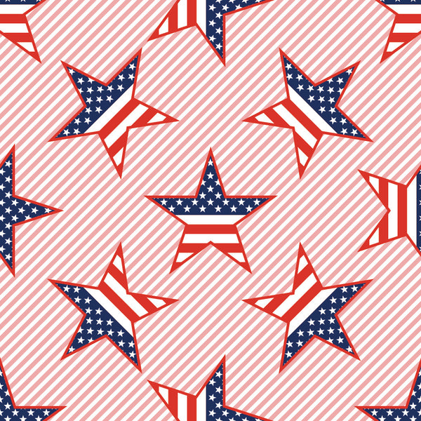 Patriotic Fabric, Custom Print Fabric, American Flag Stars 7146