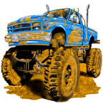 Truck Fabric Monster Truck Fabric in mud 5803