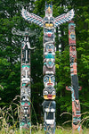 Western Fabric, Native American Fabric, Three Totem Poles 1232 - Beautiful Quilt