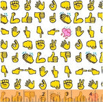 Emoji Fabric, Text Me Back Thumbs up 5943 - Beautiful Quilt