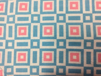 Flannel Fabric, Onesies and Things, Geometric Blue and Pink 7219 - Beautiful Quilt