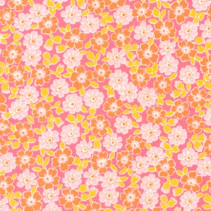 Flannel Fabric RK Cozy Cotton Small Flowers Pink 5351