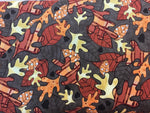 Z Flower Fabric,  Walk in the Woods, Brown Leaf Fabric 7153
