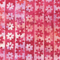 Batik Fabric Robert Kaufman Fabric flower pink 2453 - Beautiful Quilt