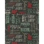 Christmas Fabric, Frostedd Holiday, Writing Black 5784