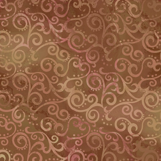 Blender Fabric QT Ombre Scroll Brown Sable 4934 - Beautiful Quilt