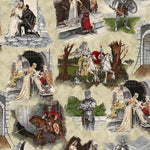 Knight Theme Fabric EQ Through The Ages Scenic 5045
