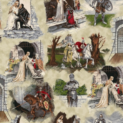 Knight Theme Fabric EQ Through The Ages Scenic 5045 - Beautiful Quilt