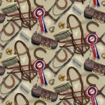 Farm Fabric, Horse Fabric, World of Horses, Horse Tack 7057