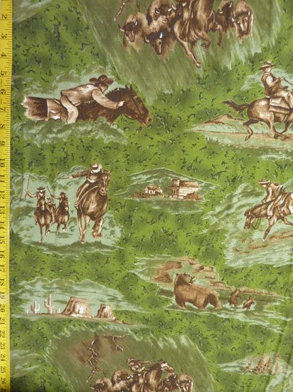 Farm Fabric, Horse Fabric, The Essential Cowboy, 7060