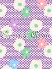 1930's Reproduction Fabric, 1930's Classic, Flowers Purple 7090 - Beautiful Quilt