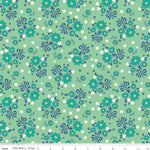 1930 Reproduction Fabric, Calico Days, Flowers Green 7092 - Beautiful Quilt