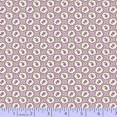 1930 Reproduction Fabric, Aunt Grace, Floral Purple 7095
