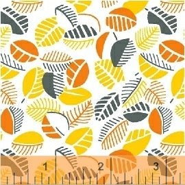 1930 Reproduction Fabric, Mimosa, Leaves Orange 7099 - Beautiful Quilt