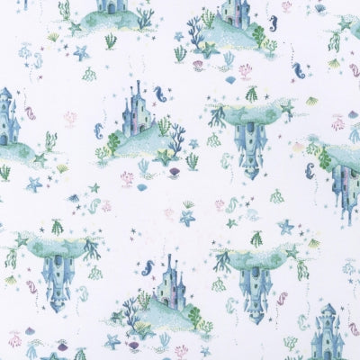 Ocean Fabric Stella Life Aquatic Water Castle 4814