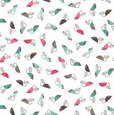 Flower Fabric, Cats, Mouse 7106