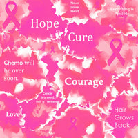 Cancer Fabric Breast Cancer Fabric Inspirational Words Pink Cotton Or Fleece 7119