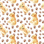 Dog Fabric Labrador Fabric Puppies