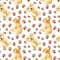 Dog Fabric, Labrador Fabric, Puppies and Paw Fabric, Cotton or Fleece 5702 - Beautiful Quilt