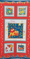Children's Fabric, Rhyme Time, Owl Panel 7172 - Beautiful Quilt