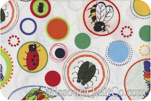 Children's Fabric, Bug Fabric, Bug a Boo, All Over Bug 7182 - Beautiful Quilt