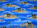 Children's Fabric, Pirate Fabric, Dead Man's Cove, Treasure Scenic 7186 - Beautiful Quilt