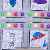 Children's Fabric, Space Fabric, Mission Space, panel 7193 - Beautiful Quilt