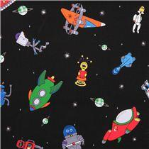 Children's Fabric, Space Fabric, Mission Space, Space Ships 7194 - Beautiful Quilt