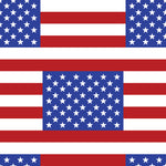 Patriotic Fabric, Custom Print Fabric, Stars and Stripe American Flag 7120