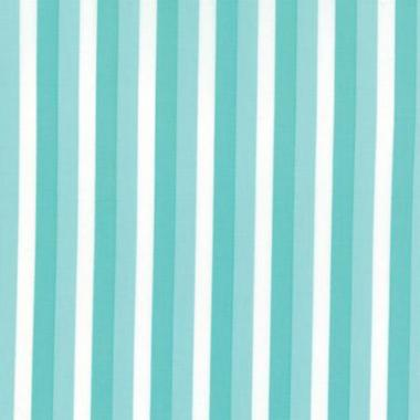 Stripe Fabric, Color Theory, Teal and White 7200