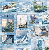 Beach Fabric, Wind and Waves, Boats  7231 - Beautiful Quilt