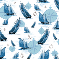 Beach Fabric, Sail Away, Sail Boats 7232 - Beautiful Quilt