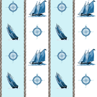Beach Fabric, Sail Away, Sail Boats in Stripes 7233 - Beautiful Quilt