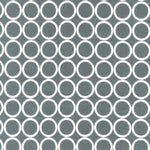 Blender Fabric, Metro Living, Gray with White Circles Geometric 7245 - Beautiful Quilt