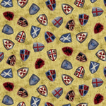 Knights Theme Fabric EQ Through the Ages Shields 5046 - Beautiful Quilt