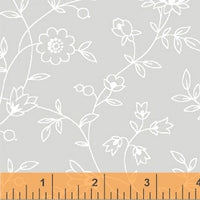 Blender Fabric, Grace II, Light Gray with Small Flowers 5887 - Beautiful Quilt