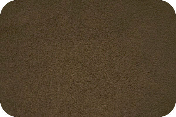 "Cuddle Fabric Shannon Solid 90"" wide Minky brown 3802"