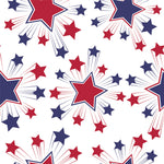 Patriotic Fabric, Custom Print Fabric, Red White and Blue Stars 7121