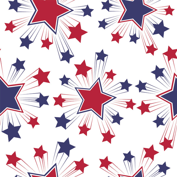 Patriotic Fabric, Custom Print Fabric, Red White and Blue Stars 7121 - Beautiful Quilt