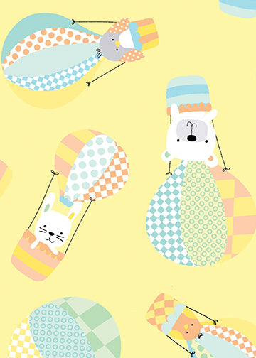 Baby Fabric Benartex Breezy Baby FLANNEL bear ballon 4558
