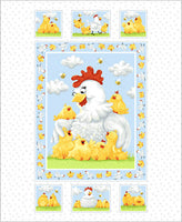 Baby Fabric Susybee Pippa Chicken Fabric Panel 4238 - Beautiful Quilt