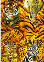 African Animal Fabric, The Wild Side, Panel 5687 - Beautiful Quilt
