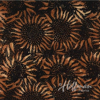 Batik Fabric Hoffman Bali Batik Sunflower Copper 5354 - Beautiful Quilt
