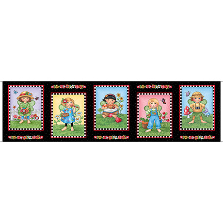 Fairy Fabric QT Mary's Fairies Mary Engelbriet Panel 5406