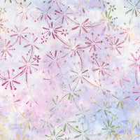 Batik Fabric RK Enchanted 2 Starburst Lavender 5299 - Beautiful Quilt