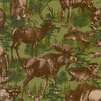 Wildlife Fabric Deer Fabric Timber Lodge FLANNEL 4101 - Beautiful Quilt