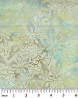 Batik Fabric Benartex Tropical Breeze Balis Flower Teal 4659 - Beautiful Quilt