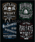 Whiskey Fabric, Custom Printed Labels 5777