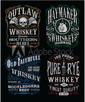 Whiskey Fabric, Custom Printed Panel, Whiskey Labels 5777 - Beautiful Quilt