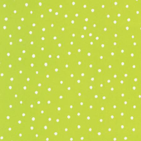 Blender Fabric Loralie Dinky Dots Polka dot Lime 5453